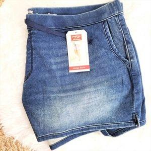 NWT Levi Strauss Women's Denim Lounge Shorts 22W